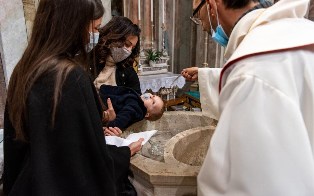 Battesimo di Andrea a Dello, chiesa di S.Giorgio